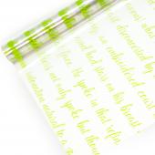 Упаковочная пленка (0,7*8 м) Рукопись, Салатовый, 1 шт.