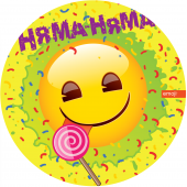Тарелки (9''/23 см) Смайл, Emoji, Желтый, 6 шт.