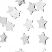 Гирлянда-подвеска Звезды, Белый металлик, 230 см