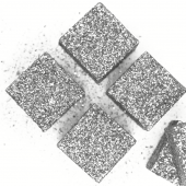 Фигура из пенопласта Куб, Серебро, Металлик, 5 см, с блестками, 6 шт.