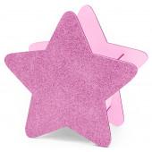 Декоративный ящик Звезда, Розовый, с блестками, 25*12*24 см, 1 шт.