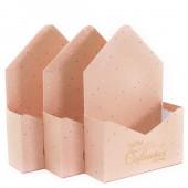 Набор коробок, Конверт, Пусть сбываются Мечты, Персиковый, 35*23*8 см, 3 шт.