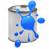 Краска для печати на воздушных шарах, Голубой, 0,87 л.