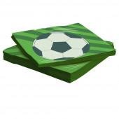 Салфетки, Футбольный мяч, 33*33 см, 20 шт.
