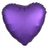 Шар (18''/46 см) Сердце, Пурпурно-ф...