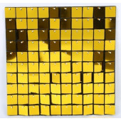 Декоративная панель Пайетки, 30*30 см, Золото, Металлик, 1 шт.