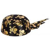 Шляпа Бандана, Пират, Черный/Золото...