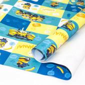 Упаковочная бумага (0,7*1 м) Миньоны, 2 шт.