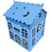 Коробка для воздушных шаров Домик, Голубой, 70*70*70 см, 1 шт.