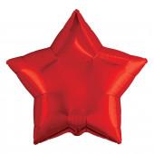 Шар (19''/48 см) Звезда, Красный, 1 шт.