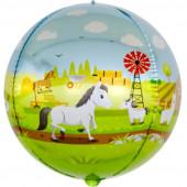 Шар (24''/61 см) Сфера 3D, Любимая ферма, 1 шт.