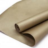 Упаковочная бумага, Крафт 70гр (0,7*10 м) Золото, 2 ст, 1 шт.