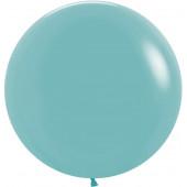 Шар (24''/61 см) Синяя бирюза (038), пастель, 3 шт.