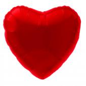 Шар с клапаном (9''/23 см) Мини-сердце, Красный, 1 шт.