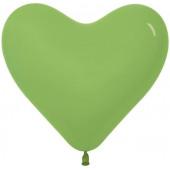 Сердце (6''/15 см) Лайм (031), пастель, 100 шт.