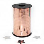 Лента (0,5 см*250 м) Розовое Золото, Металлик, 1 шт.