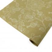 Упаковочная бумага, Крафт 70гр (0,7*10 м) Экошик, Вьюнок полевой, Белый, 1 шт.