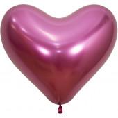 Сердце (14''/36 см) Reflex, Зеркальный блеск, Фуше (912), хром, 50 шт.