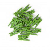 Декоративные прищепки Зеленый, 2,5 см, 24 шт.