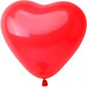 Сердце (10''/25 см) Красный, пастель, 100 шт.