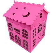 Коробка для воздушных шаров Домик, Розовый, 70*70*70 см, 1 шт.