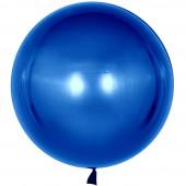 Шар с клапаном (18''/46 см) Сфера 3D, Deco Bubble, Синий, 10 шт.