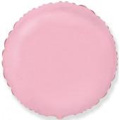 Шар (18''/46 см) Круг, Розовый, 1 шт.