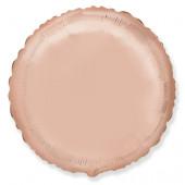 Шар (18''/46 см) Круг, Розовое Золото, 1 шт.