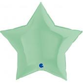 Шар (36''/91 см) Звезда, Макарунс, Нежная мята, 1 шт.
