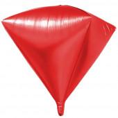 Шар 3D (27''/69 см) Алмаз, Красный, 1 шт.