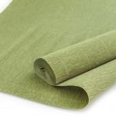 Упаковочная гофрированная бумага (0,5*2,5 м) Оливковый, 1 шт.
