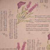 Упаковочная бумага, Крафт 70гр (0,7*10 м) Лаванда блюз, 1 шт.
