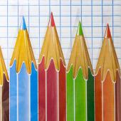 Скатерть Цветные карандаши, 120 х 160 см, в рулоне, 5 шт