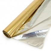 Полисилк (1*20 м) Желтое золото/Серебро, 1 шт.