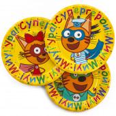 Тарелки (9''/23 см) Три Кота, Супергерои!, Желтый, 6 шт.
