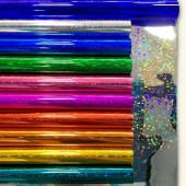 Упаковочная пленка (0,7*7,9 м) Ассорти, Голография, 10 шт.