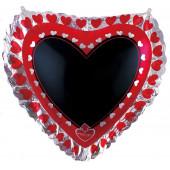 Шар (35''/89 см) Сердце, Для надписей, Желаю тебе ... (с маркером), 1 шт. в упак.