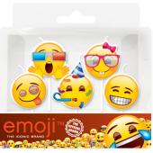 Свечи Круг, Смайл, Emoji, Вечеринка, 7 см, 5 шт.