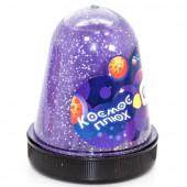 Слайм, Космос, Фиолетовый, с блестками, флюор, 130 г, 1 шт.
