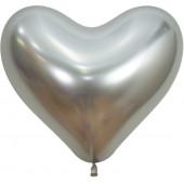 Сердце (14''/36 см) Reflex, Зеркальный блеск, Серебро (981), хром, 50 шт.