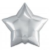 Шар (19''/48 см) Звезда, Серебро, 1 шт.