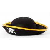 Шляпа Пират, Черный, маленькая...