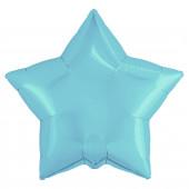 Шар (19''/48 см) Звезда, Нежно-голубой, 1 шт.
