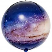 Шар (24''/61 см) Сфера 3D, Млечный путь в космосе, 1 шт.
