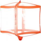 Шар 3D (20''/51 см) Куб, Красные грани, Прозрачный, 1 шт.