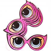 Маска Кукла ЛОЛ (LOL), Солнечные очки, Розовый, 6 шт.