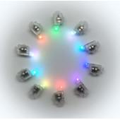 Подсветка в шар Разноцветная (мигающая), 10 шт