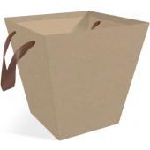 Коробка подарочная Трапеция, Крафт, 14*14*16 см, 10 шт.