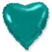 Шар (18''/46 см) Сердце, Тиффани, 1 шт.