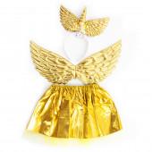 Набор (ободок, юбочка, крылья) Небесный единорог, Золото, 1 шт.